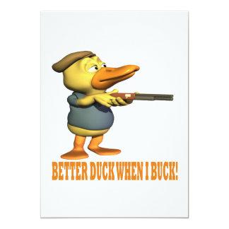 Better Duck When I Buck Card