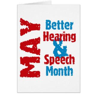 Better Hearing & Speech Month Card