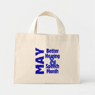 Better Hearing & Speech Month Mini Tote Bag