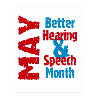 Better Hearing & Speech Month Postcard