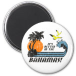 Better in Bahamas Faded Magnet
