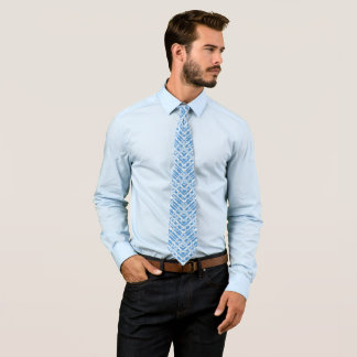 Better in Blue Men's Mirror Pattern Plaid Tie