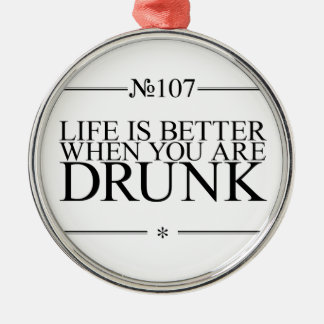Better Life Drunk Christmas Tree Ornament