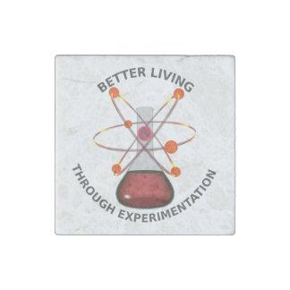 Better Living Through Experimentation Stone Magnet