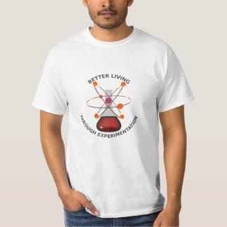 Better Living Through Experimentation light shirt