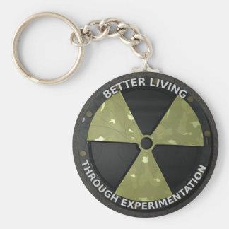 Better Living Through Experimentation Version 2 Basic Round Button Keychain