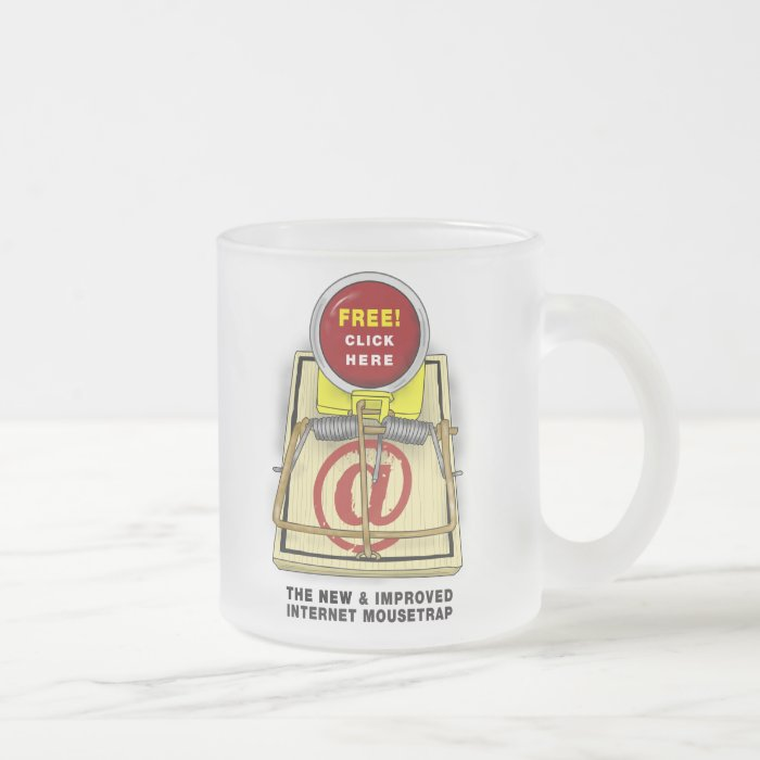 Better Mousetrap Frosted Glass Mug 10 oz