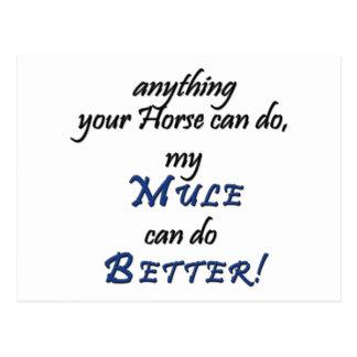 Better Mule Postcard