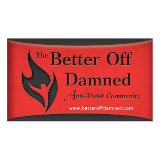 Better Off Damned Contact Cards Business Card