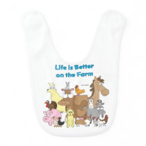 Better on the Farm - Baby Bib