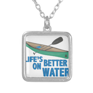 Better On Water Silver Plated Necklace
