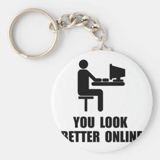Better Online Basic Round Button Keychain