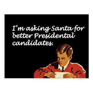 Better Presidential Candidates Joke Postcard