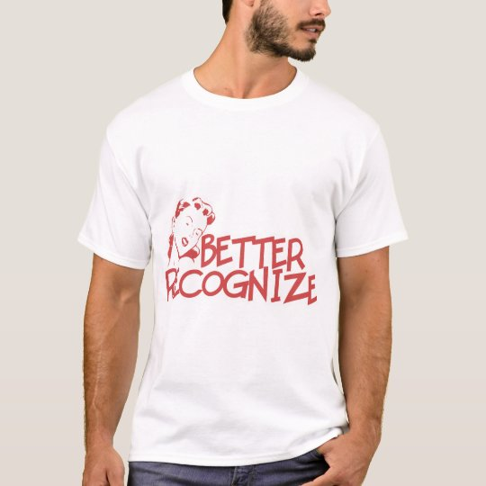 Better Recognize Retro Lady - Red T-Shirt