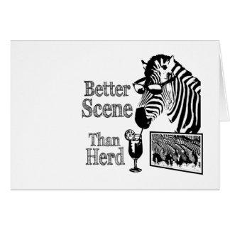 Better Scene Than Herd Greeting Card