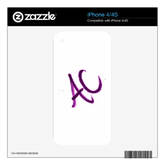 BETTER THAN A C.its an ac. iPhone 4S Decal