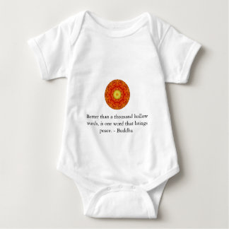 Better than a thousand hollow words, is one word.. baby bodysuit
