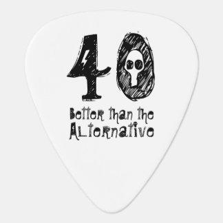 Better Than Alternative 40th Funny Birthday Q40A Guitar Pick