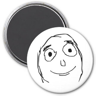 Better Than Expected Face 3 Inch Round Magnet