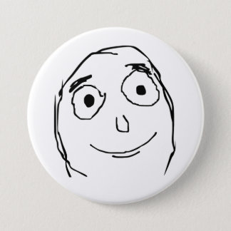Better Than Expected Face Pinback Button