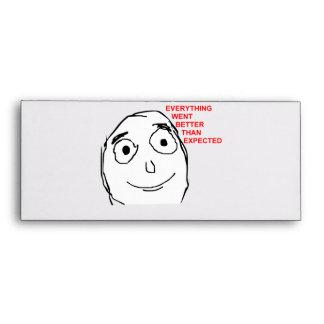 Better Than Expected Rage Face Meme Envelopes