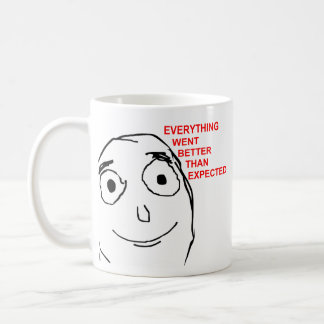 Better Than Expected Rage Face Meme Mugs