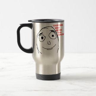Better Than Expected Rage Face Meme 15 Oz Stainless Steel Travel Mug