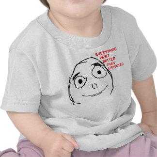 Better Than Expected Rage Face Meme Tee Shirt