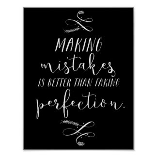 Better than faking perfection | Poster