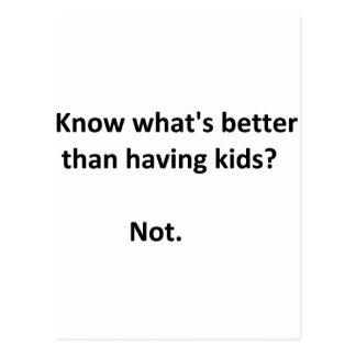 Better than kids #1 postcard