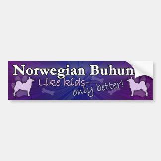 Better than Kids Norwegian Buhund Bumper Sticker