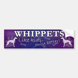 Better than Kids Whippet Bumper Sticker