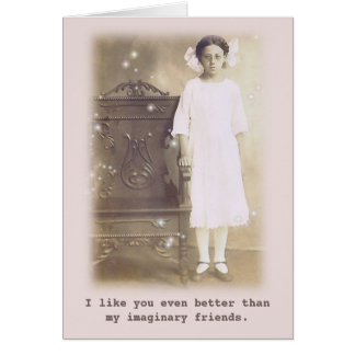 Better than my imaginary friends Vintage Photo Card