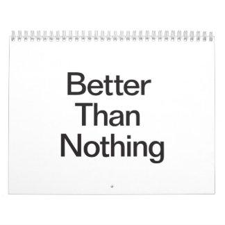 Better Than Nothing.ai Calendar