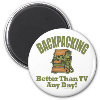 Better Than TV - Backpacking 2 Inch Round Magnet
