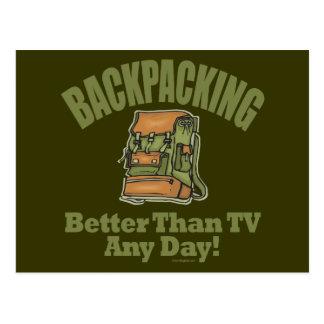 Better Than TV - Backpacking Postcard