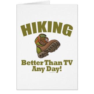 Better Than TV - Hiking Card