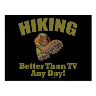 Better Than TV - Hiking Postcard