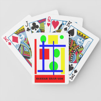 better than you bicycle playing cards
