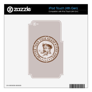 Better Than Your Grandfathers Pipe Travel Stamp iPod Touch 4G Decal