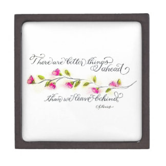 Better things ahead inspirational quote typography gift box