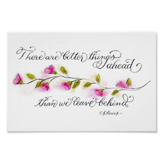 Better things ahead inspirational quote typography poster