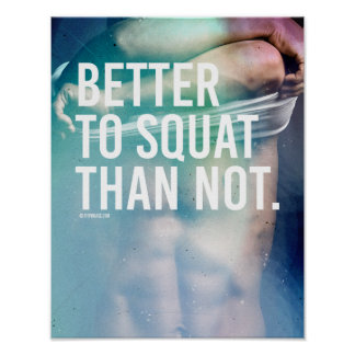 Better to Squat than not -   Guy Fitness -.png Poster