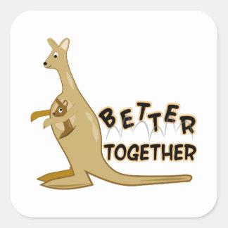 Better Together Square Sticker