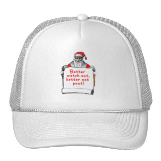 Better Watch Out Better Not Pout Mesh Hat