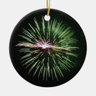 Better wishes in green of fireworks -