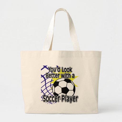 Better with a Soccer Player Tote Bag