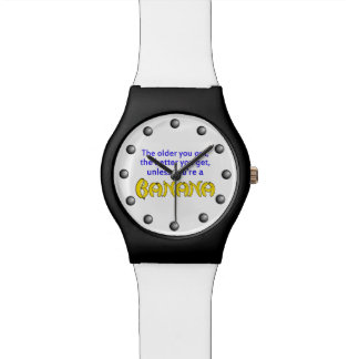 Better With Age Banana Humor Wristwatch