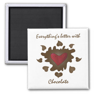 Better With Chocolate Magnet