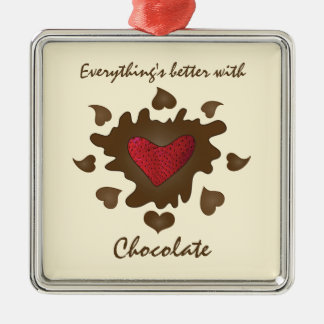 Better with Chocolate Ornament